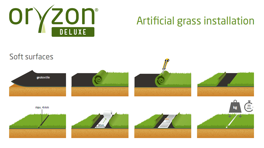 installation thick and densely woven grass ORYZON